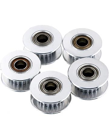 2pcs 2GT 20 T 5 mm Alésage Aluminium Poulie roue pour Imprimante 3D courroie de distribution