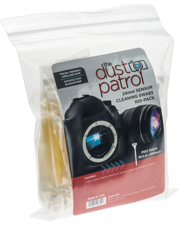 Alpha 24mm Sensor Cleaning Swabs (100 Bulk pk) (Yellow) by The Dust Patrol