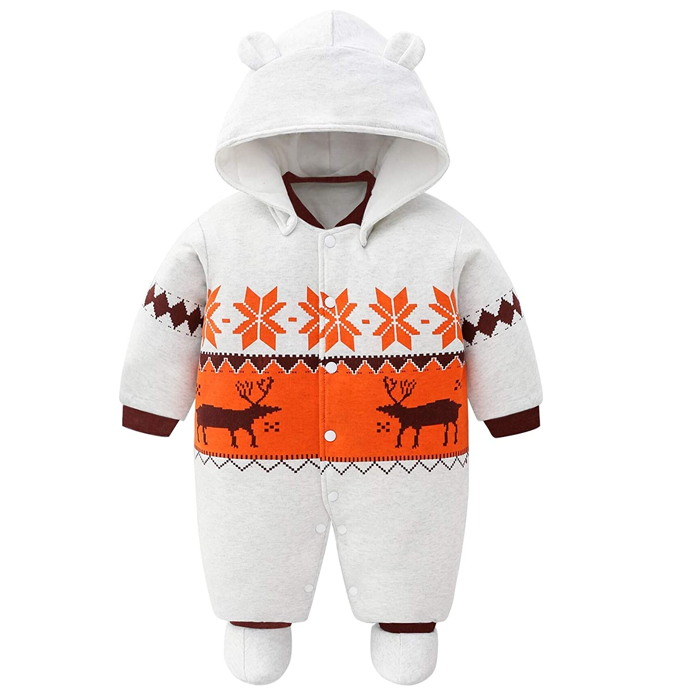 Borlai Baby Boys Jumpsuit Fashion Causal Cotton Jumpsuit Cute Rabbit Ear Striped Bodysuit