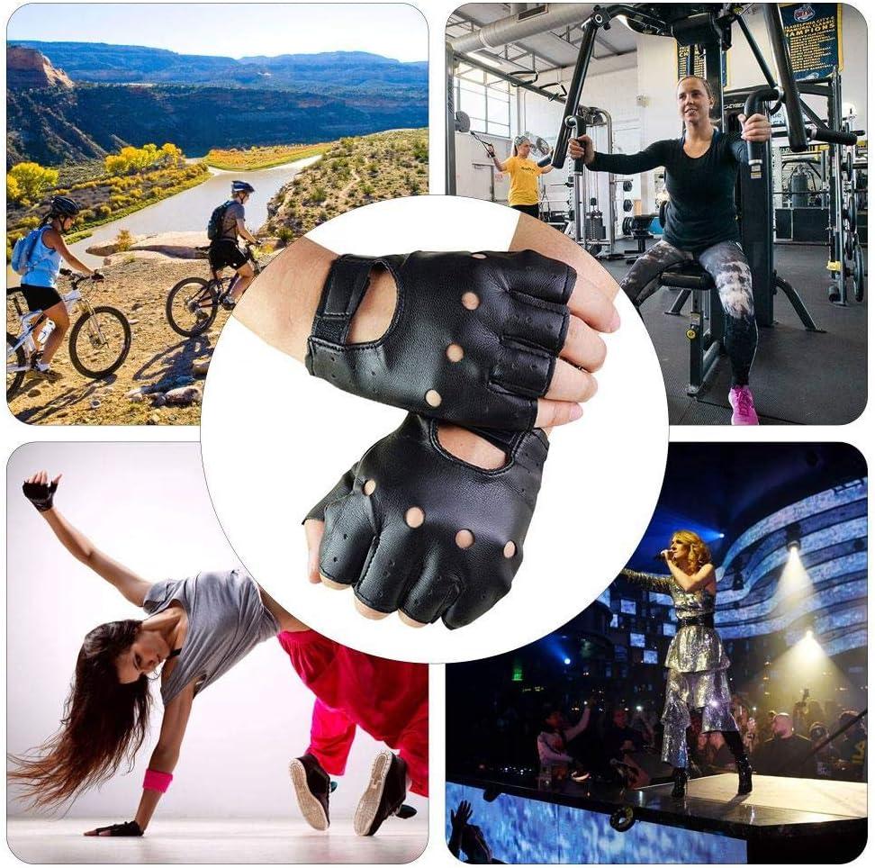 Mississ Herren Slim Classic Half Finger Lederhandschuhe Street Dance Show Radfahren Approachable