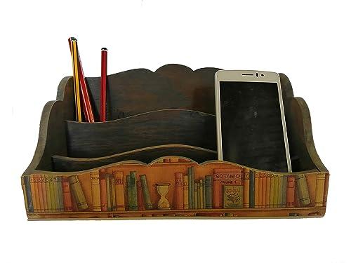 Caja de madera para decoración u organizador o soporte para móviles, caja para almacenaje de cartas o caja decorativa.: Amazon.es: Handmade