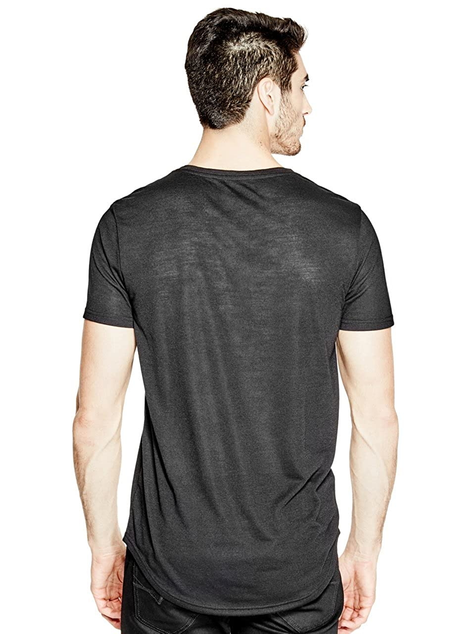 G by GUESS Men s Heathered Knit Pocket Longline Tee  3e0fa0d99ea
