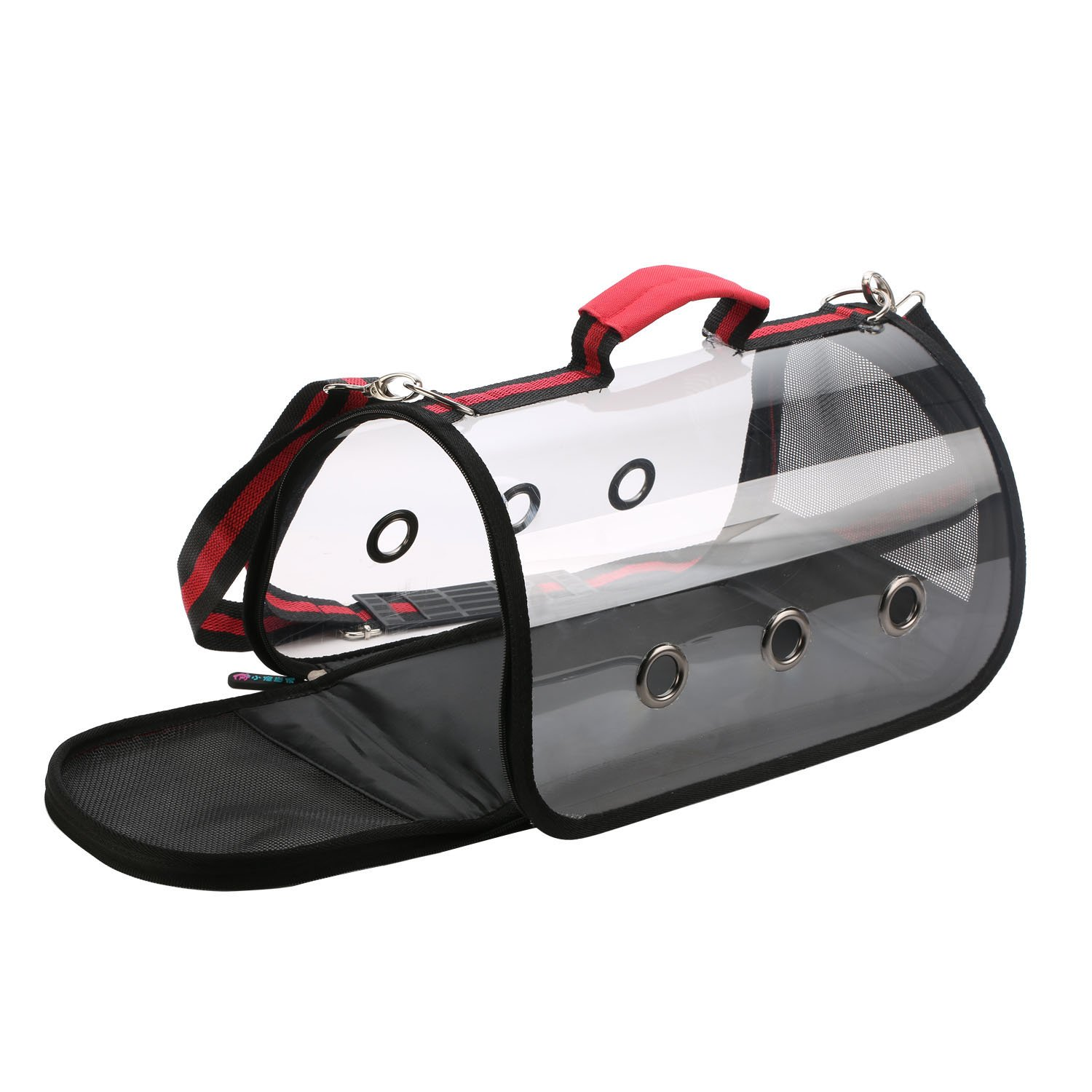 LittleTiger Portable Pet Bags, Pet Travel Carrier for Small Dogs and Cats, Foldable Pets Tote Crate Handbag (S, Red)