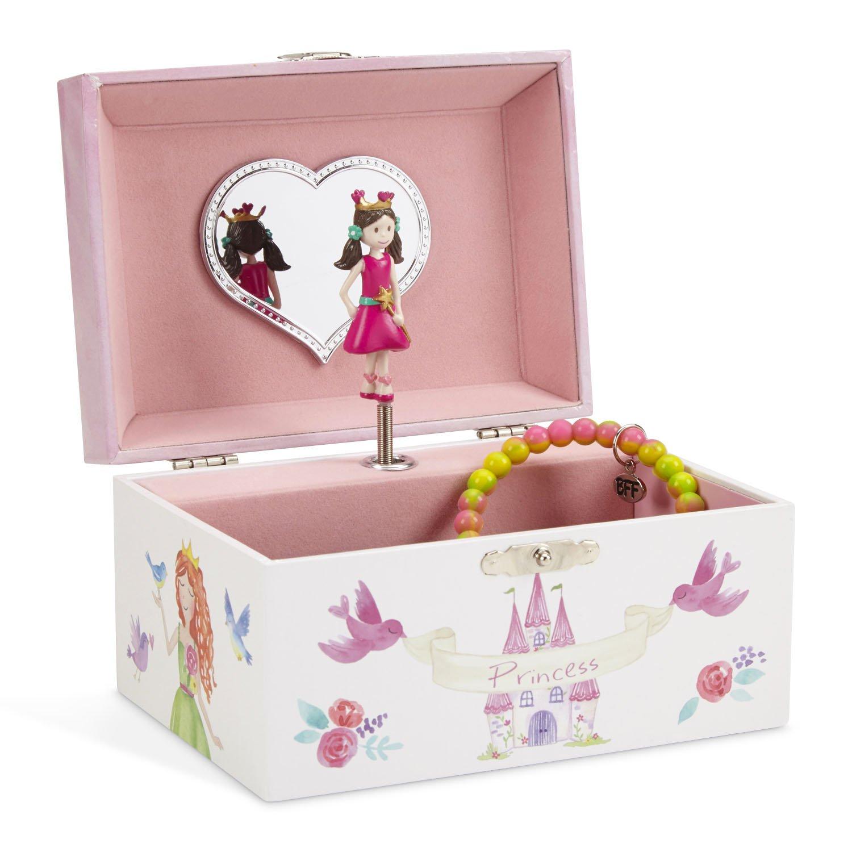 JewelKeeper Unicorn and Castle Musical Jewelry Box, Fairy Princess Hearts Design, Dance of the Sugar Plum Fairy Tune