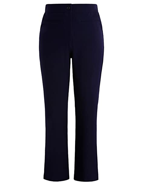 Chicwe Women\'s Plus Size Curvy Fit Boot Cut Pants - Casual and Work Pants  Trousers