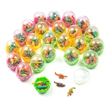 Comius Huevos de Dinosaurio, 24 Pcs Huevos Dinosaurio con poca Dinosaurio Mini Borrador lápiz, Novedad Huevos de Dinosaurio Toy para Niños Fiesta ...