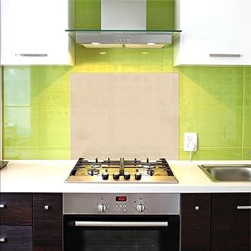 Küchenrückwand, Glas Spritzschutz, 75 x 60 cm, Beige, UltraClear ...