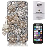 "iPhone 6/6s Case (4.7"" Screen), Mini-Factory Bling Rhinestone Case - Pearl Crystal Diamond Handbag Design(NOT for iPhone 6 Plus 5.5"" Screen)"