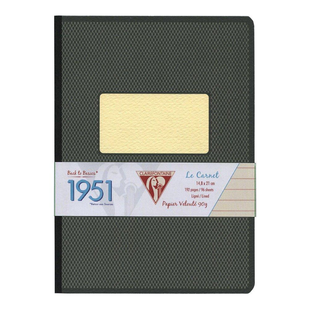 Clairefontaine 195346C Kladde 1951 Back to basics 14,8 x 21 cm liniert mit gebundenem Einband und weichem Deckel 96 Blatt 1 St/ück DIN A5 violett