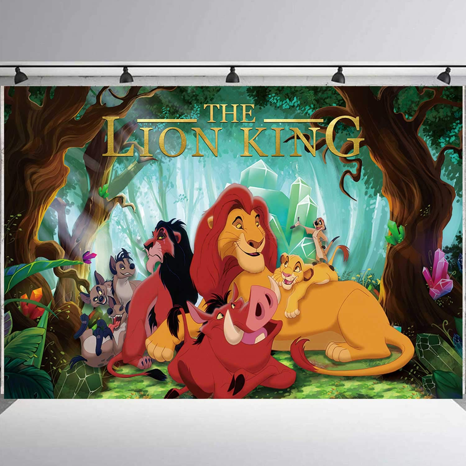 Lion King Backdrop, Jungle Safari Photography Backdrop Background for Photographic Kids Children Party Studio Photo Backdrop Props