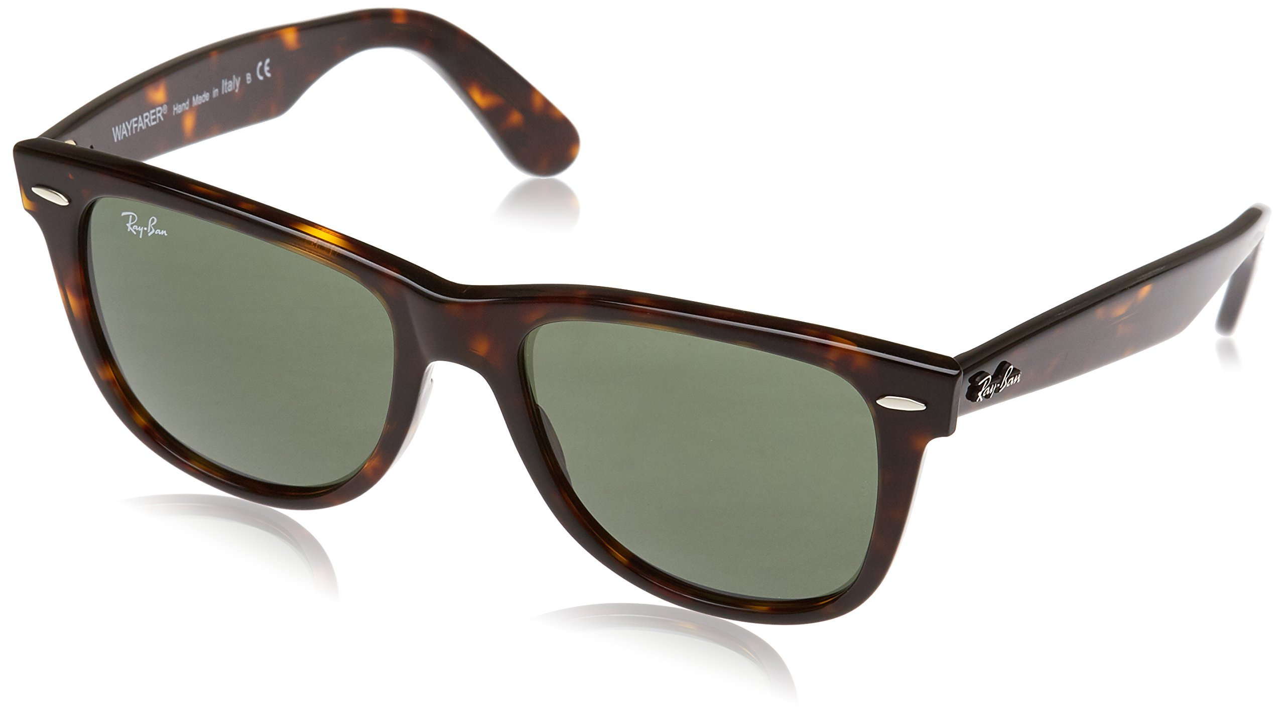 Ray-Ban, RB2140 Original Wayfarer Sunglasses, Unisex Ray-Ban Glasses, 100% UV Protection, Non-Polarized, Reduce Eye Strain, Lightweight Acetate Frame, Prescription-Ready Lenses, 54 mm Frame by Ray-Ban (Image #1)