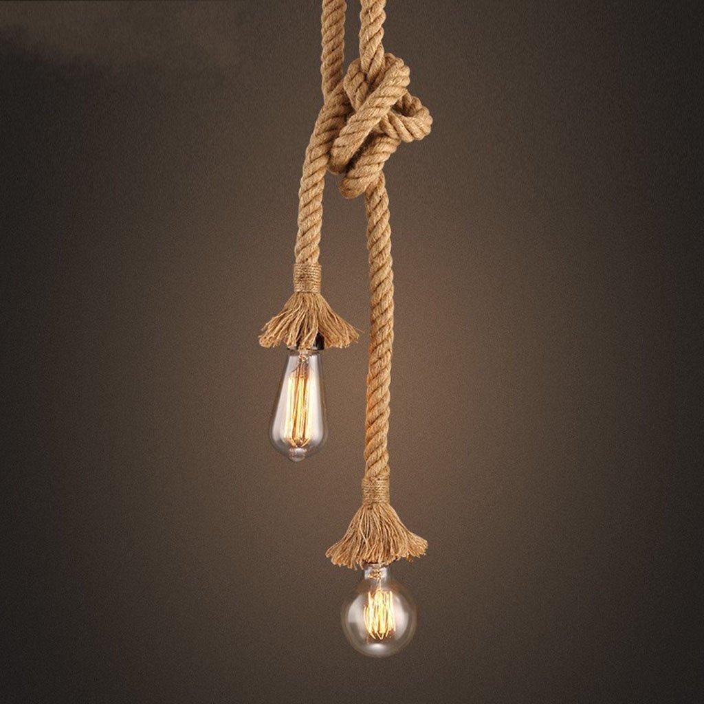 Modern Deckenlampe Retro Seil Anhänger Licht Loft Vintage Lampe Restaurant Bedroo Balkon Schlafzimmer (Größe   200cm)