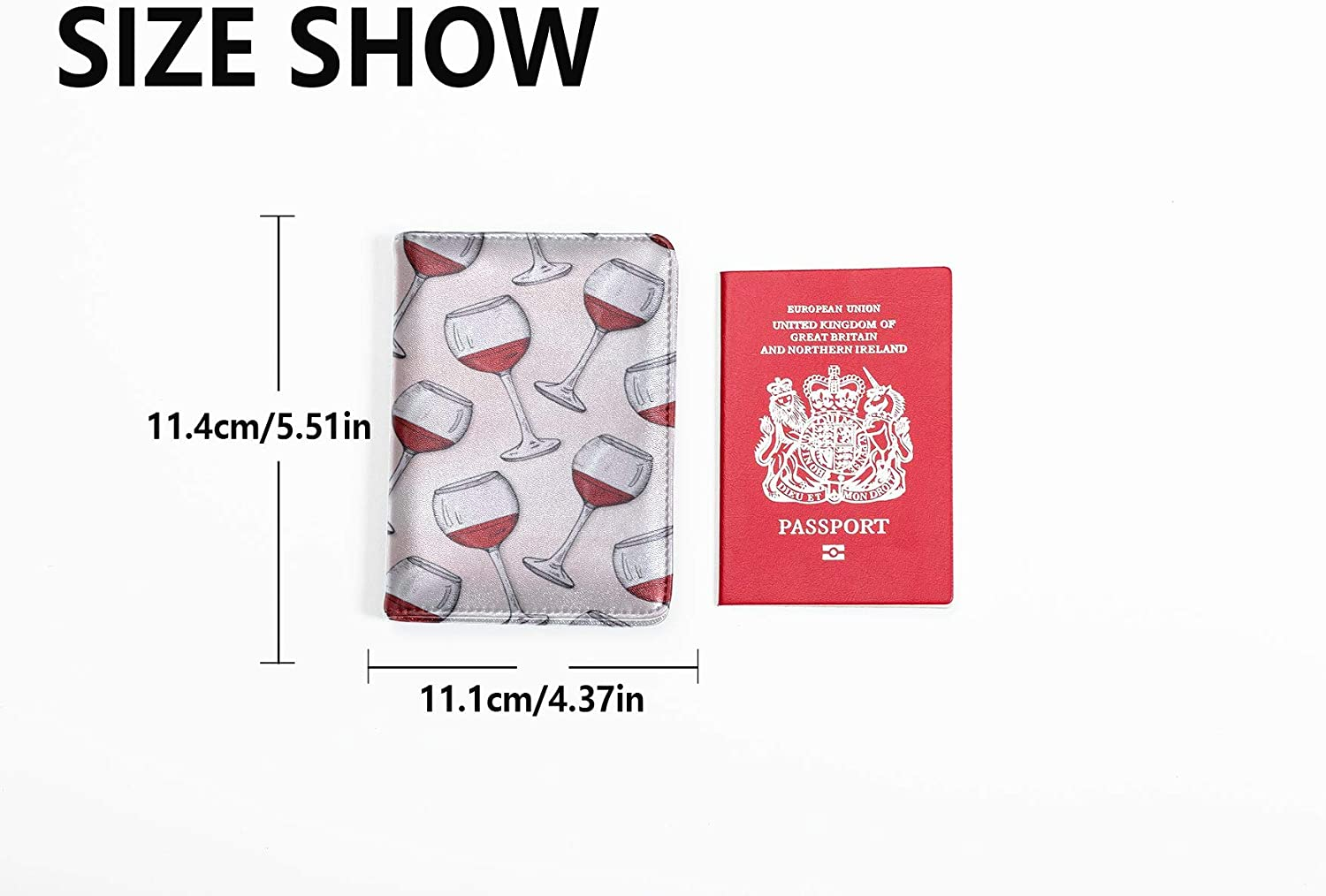 Passport Holder Cover Case Drink Creative Fashion Goblet Cocktail Waterproof Passport Cover Multi Purpose Print Leather Passport Cover For Women Travel Wallets For Unisex 5.51x4.37 Inch