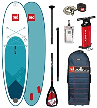 Red Paddle Co 2018 Ride 98 Inflatable Stand Up Paddle Board + Bag,
