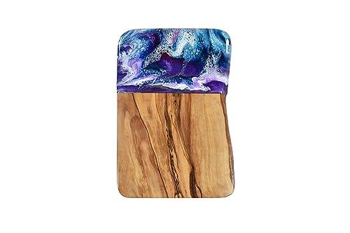 Resina In Legno Art Tavola Di Legno D Ulivo 21cm Amazon It Handmade