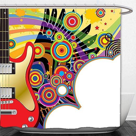 interestlee cortina de ducha música Decor Vector ilustración de un ...