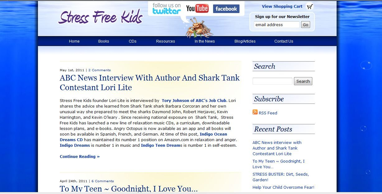 Amazon com: Stress Free Kids Blog and Articles: Lori Lite: Kindle Store