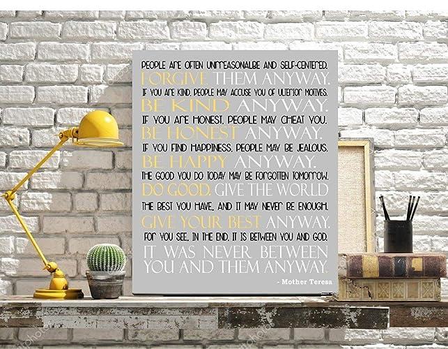 Amazoncom Mother Teresa Do It Anyway Print Inspirational
