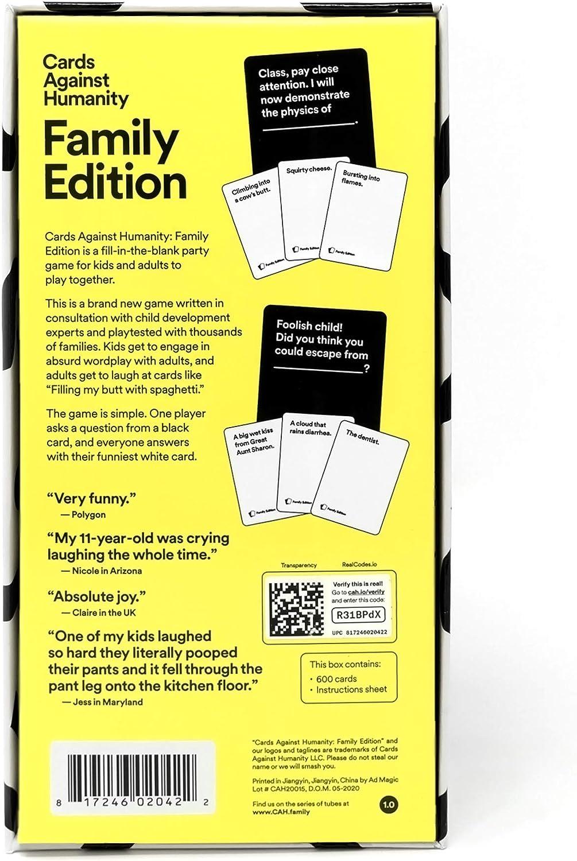 Cards Against Humanity: Edición Familiar: Amazon.es: Juguetes y juegos