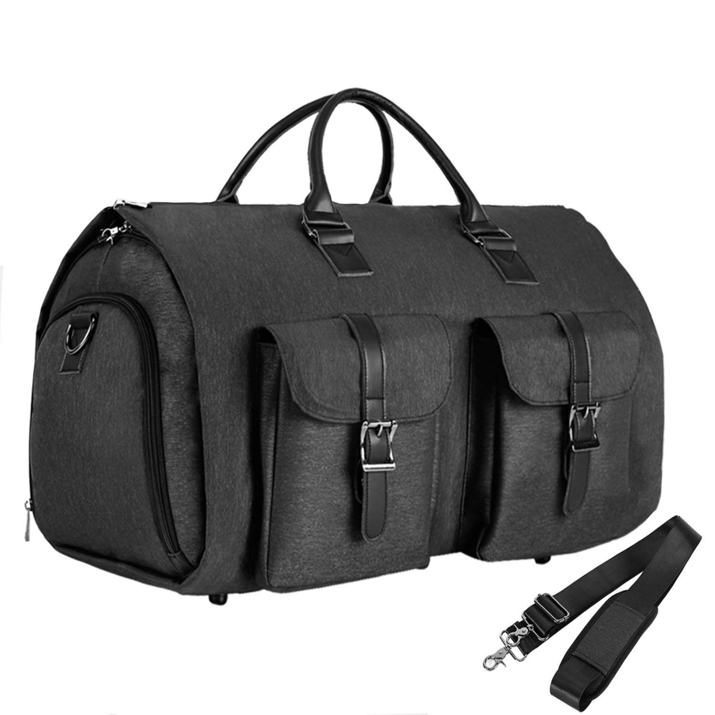 720738819f3d Convertible Travel Garment Bag,Carry on Garment Duffel Bag for Men Women -  2 in 1 Hanging Suitcase Suit Business Travel Bag