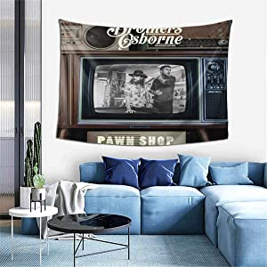 PeterLLowery Brothers Osborne Pawn Shop Tapestry Indoor Wall Hanging Window Curtain Picnic Mat Decor Bedroom Living Room 60x40 Inch