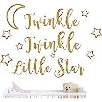 JOYRESIDE Twinkle Twinkle Little Star Wall Decal Art Vinyl Sticker Kids Baby Boy Girl's Room Decoration Nursery Bedroom Home Decor YMX29