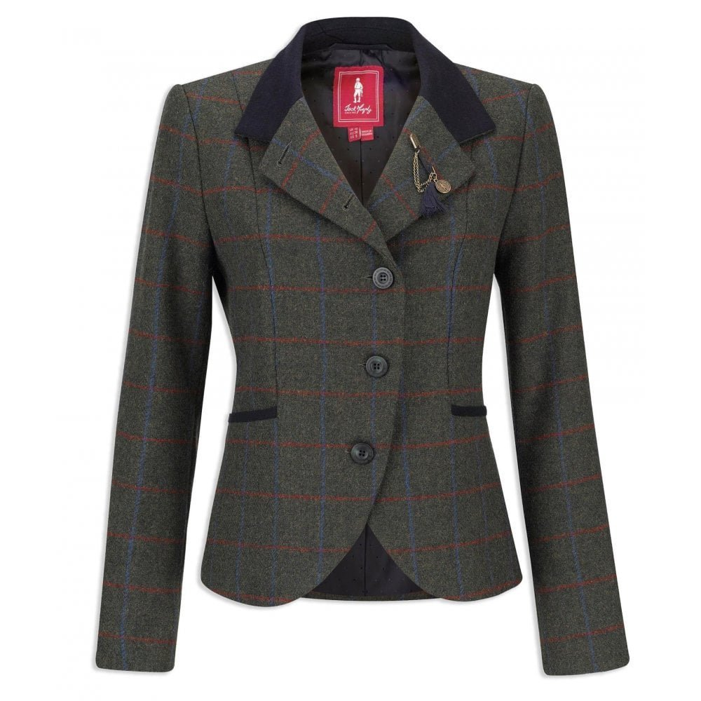 Jack Murphy Ladies Harriet Green Herringbone Check Jacket