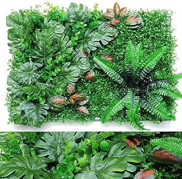 TTIK 5 Piezas Valla Artificial De Boj Exterior Pantalla De Valla De Privacidad Ivy, Planta De Patio Trasero como Fondo De Pared De Jardín De Bodas, 60 × 40 Cm,A: Amazon.es: Deportes