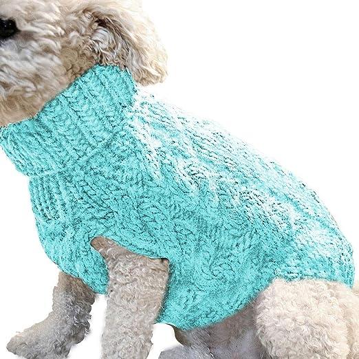 OGGID Ropa Disfraz Inverno para Perro Gato Pequeños Medianos, Chaleco Suéter Jersey Caliente para Teddy Yorkshire Chihuahua Suave Calido con Raya Sudaderas Vestido Camiseta Camisa 4 Tallas: Amazon.es: Productos para mascotas