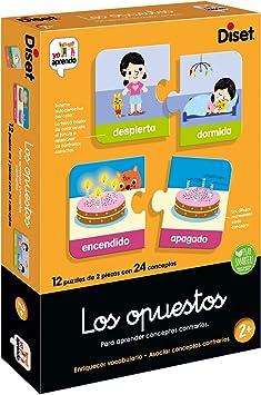 Oferta amazon: Diset-Los Opuestos Juego Educativo, Multicolor (63866)