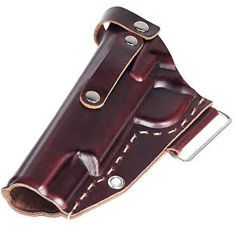 Ztotop Leather Holster for 1911, Genuine Leather Handgun 1911 Holster,  Outside The Waistband Belt Handmade Leather Holster, Fits Colt, Kimber,  para,