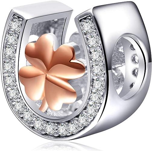 Gift Bag Rose Gold Dazzling Enamel Butterfly Charm Bead fit European Bracelets