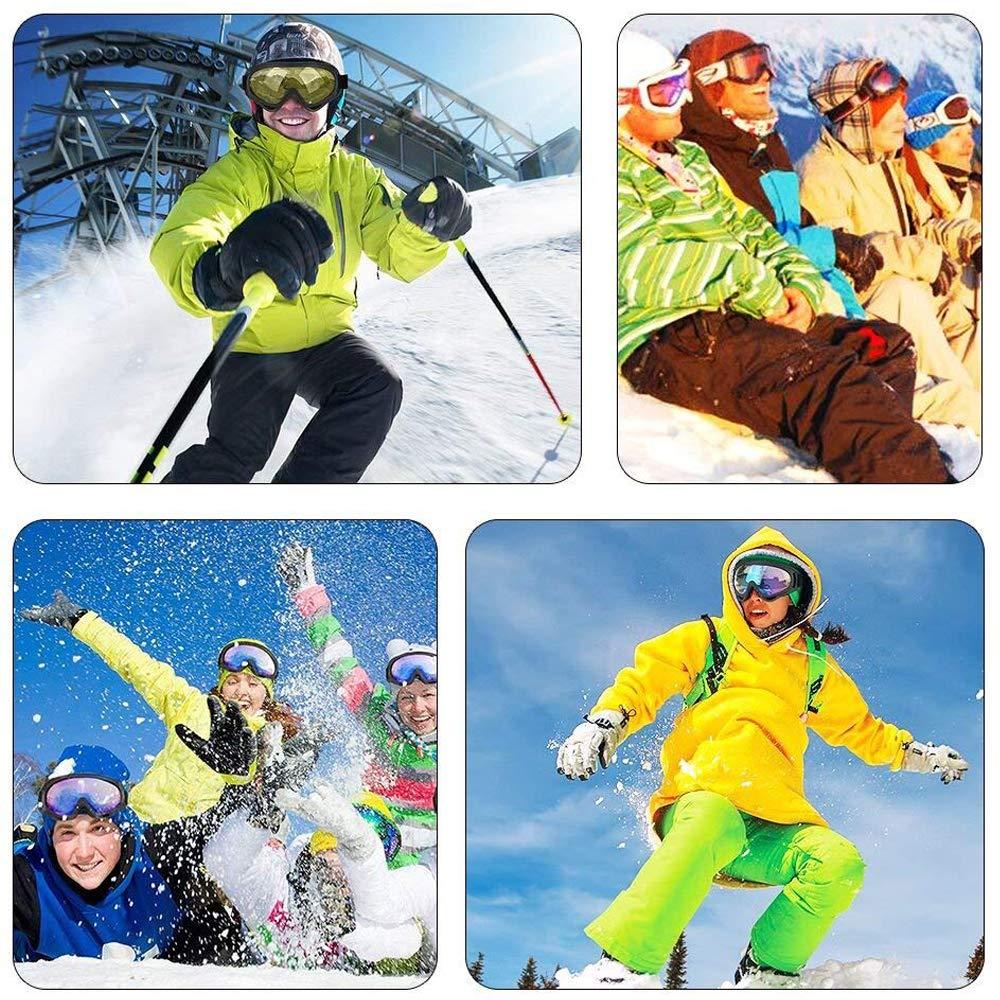 d57d5cd618a Yithings Gafas de esquí 2 Piezas Gafas al Aire Libre de Nieve Gafas de  Protección UV 400 a Prueba de Viento para El Ciclismo de Esquí Motociclismo  para ...