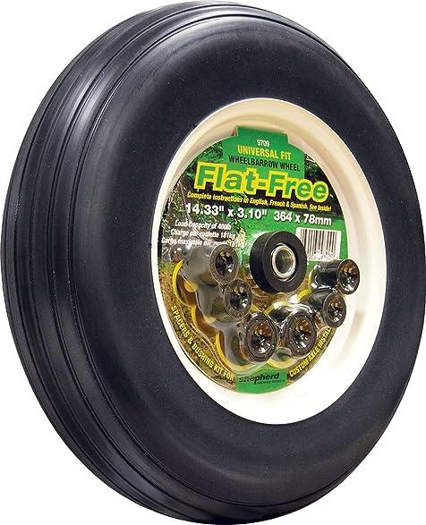 14 inch tires u003eu003e amazon com shepherd hardware 14 inch flat free tire 3