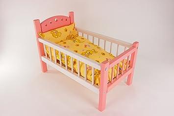 Puppenetagenbett Weiß : Puppenbett weiß rosa aus lackiertem holz mit gelb bunter