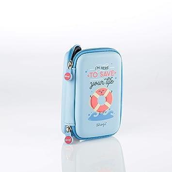 Mr Wonderful Save Your Life - Funda para Disco Externo, Color Azul: Amazon.es: Informática