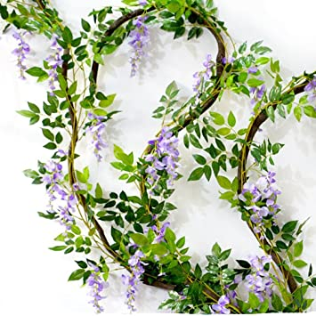 Amazon Pack Of 3 Artificial Wisteria Silk Flower For Wedding