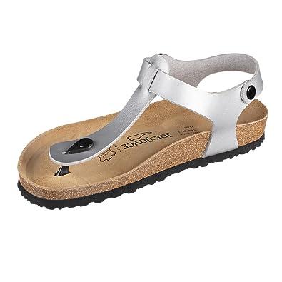 JOE N JOYCE Damen Rio Synsoft Soft Fußbett Zehentrenner White Patent Größe 40 EU Normal Itkw7y2