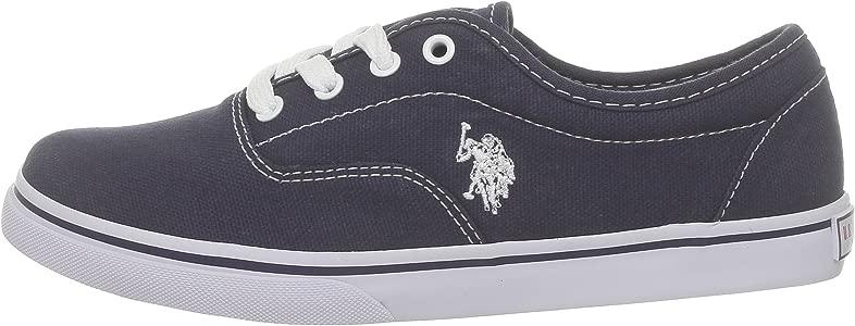 US Polo Assn - Zapatillas de deporte de tela para niños, Azul ...