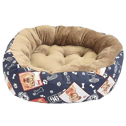 Cama para mascotas, perros y gatos PERROS CON GAFAS 95*75 cm
