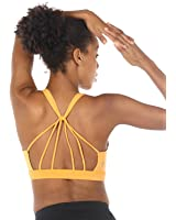 icyzone Padded Strappy Sports Bra Yoga Tops Activewear Workout Clothes For Women