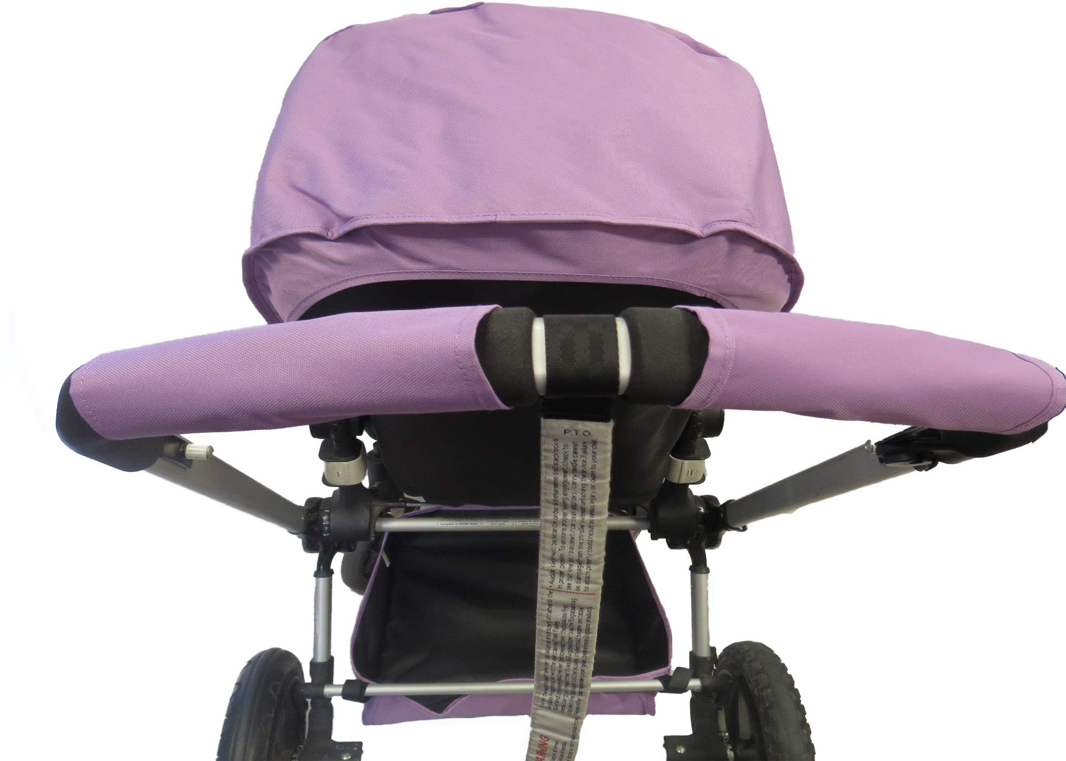 Light Purple Sun Shade Canopy with Wires and Under Seat Storage Basket Plus Free Handle Bar Covers for Bugaboo Cameleon 1, 2, 3, Frog Baby Child Strollers by Ponini (Image #3)