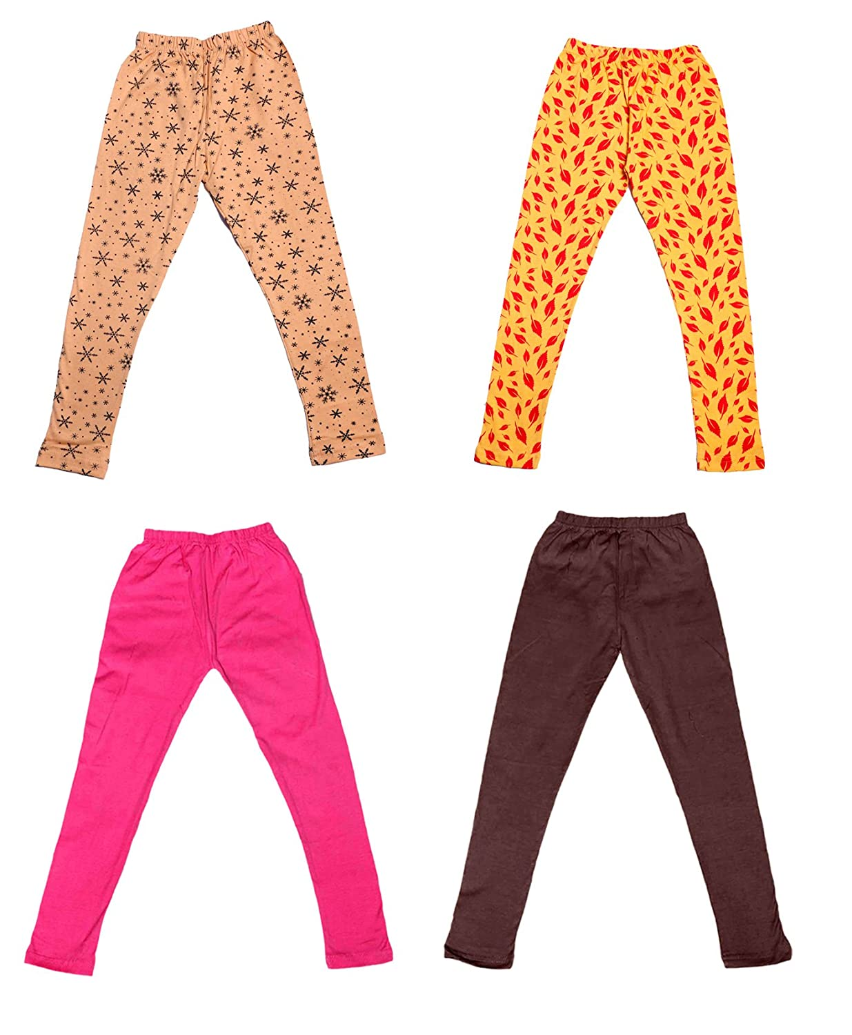 and 2 Cotton Printed Legging Pants Pack Of 4 Indistar Girls 2 Cotton Solid Legging Pants /_Multicolor/_Size-1-3 Years/_71412131819-IW-P4-22