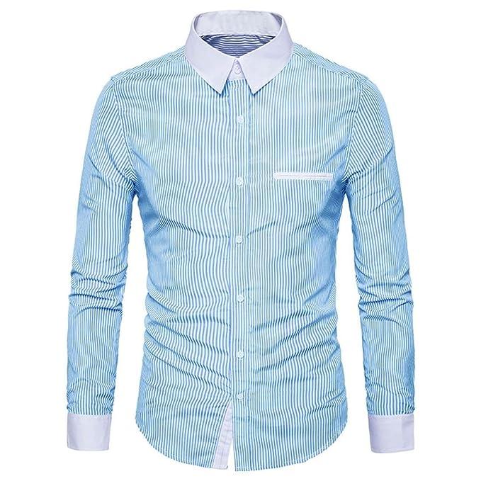 Blusa Hombre Yesmile Camiseta Camisa Casual de Manga Larga para Hombre Camisa Delgada de Manga Larga