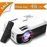 Vidéoprojecteur Portable LED 2400 Lumens LCD Projecteur HD 1080p TV, Xbox, Ordinateur Portable, Jeux, iPhone, iPad et Smartphone (Cordon HDMI Offre) GooBang Doo ABOX T22