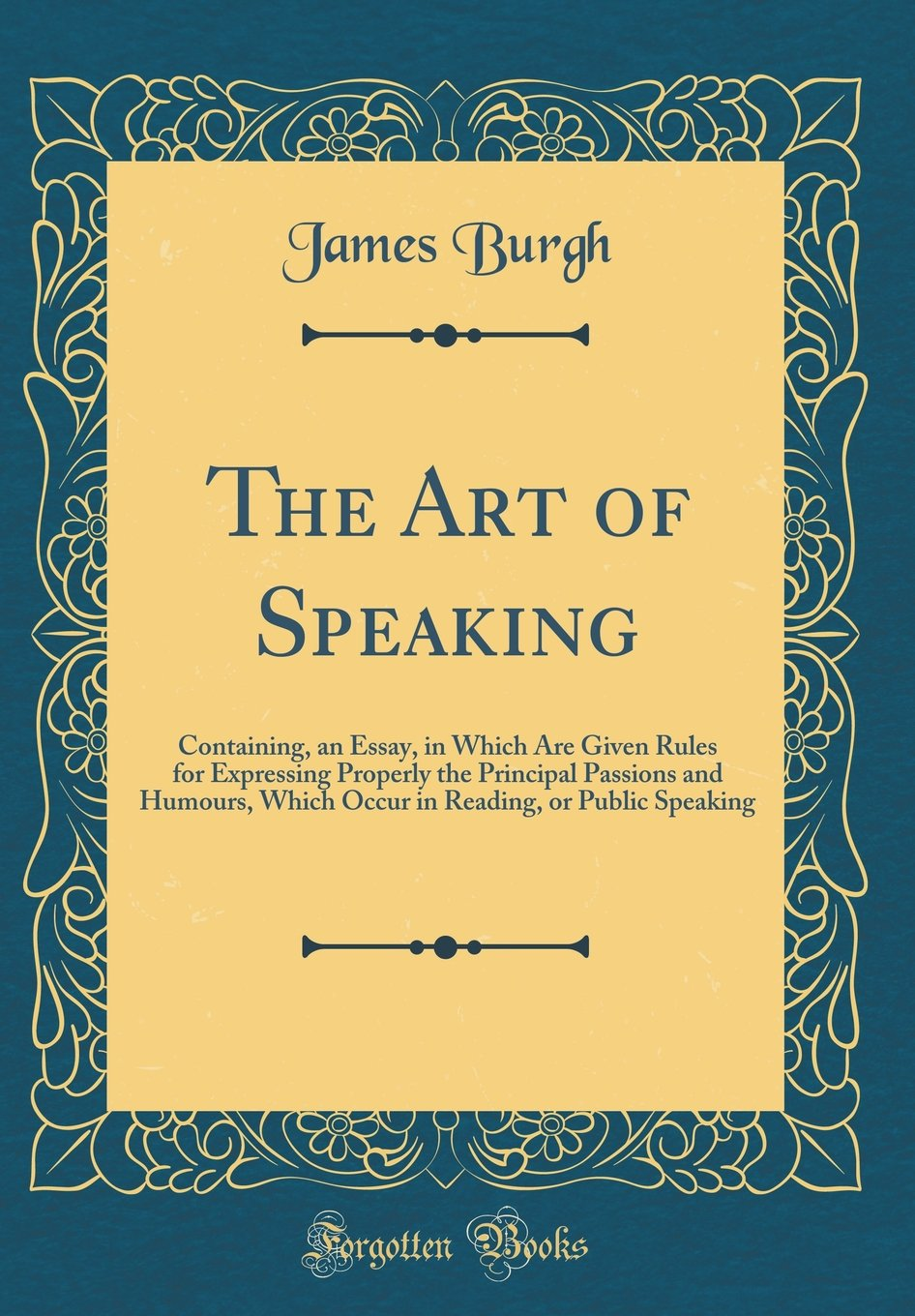 art of speaking essay