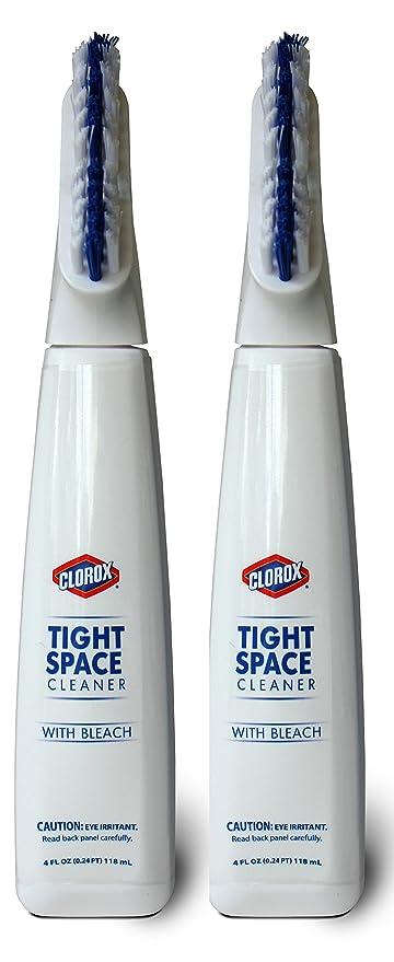 Clorox ajustado espacio y limpiador de lechada cepillo, lejía libre, 4 oz
