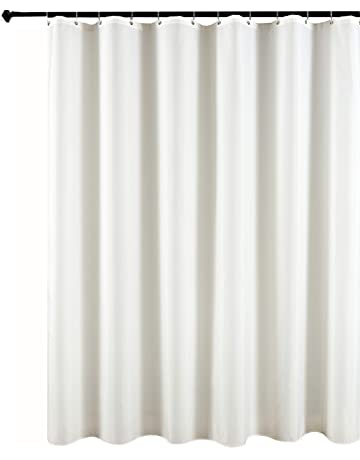 Biscaynebay Fabric Shower Curtains And Water Resistant Bathroom Curtain Liners 72 By Inch