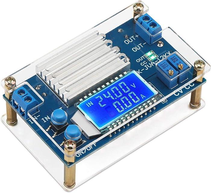 Power Supply Module, DROK DC to DC Converter 5.3V-32V to 1.2V-32V Step Down Voltage Regulator 12A LCD Volt Transformer 160W CC CV Buck Converter Reducer