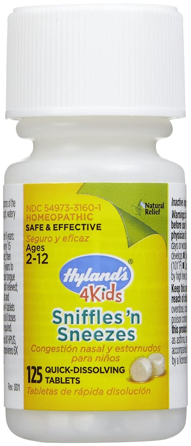 amazon com hylands sniffles n sneezes 4 kids 125 tab health